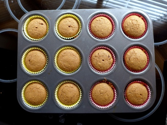 Image of cupcakes, baked