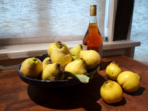 Image of quinces and brandy