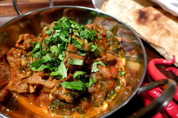 Image of leftover lamb curry, served