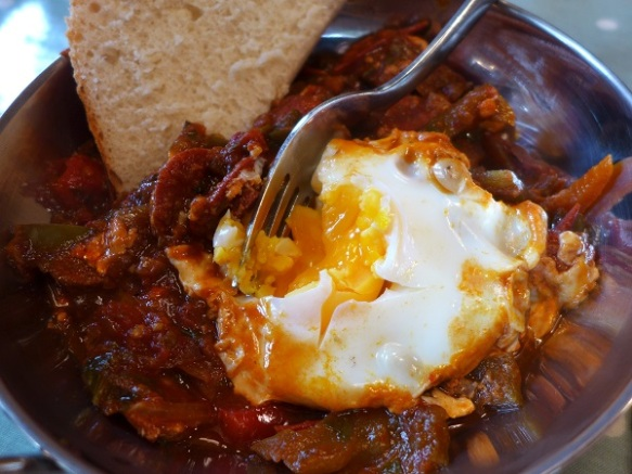 Image of shakshuka, served