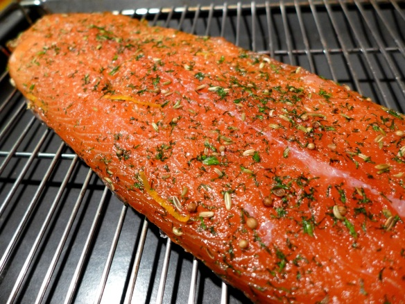 Image of the cured gravadlax