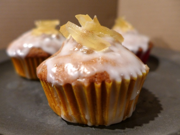 Image of iced ginger cupcakes