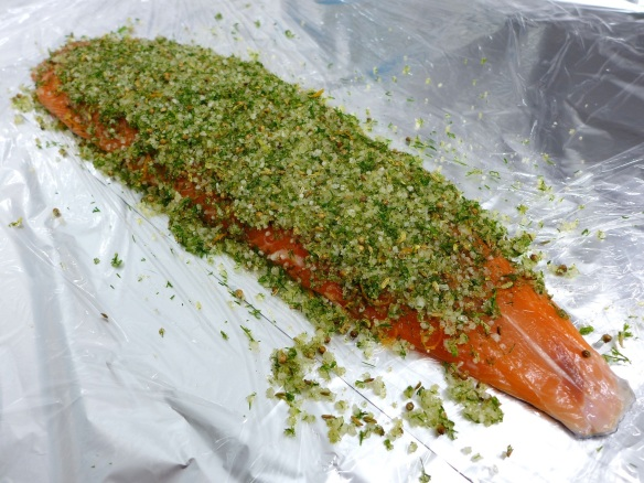 Image of salmon with Mrs P's choice of cure