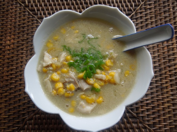 Image of chicken and sweetcorn soup