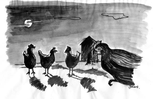 Image of vampire chickens