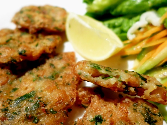 Image of fritters served