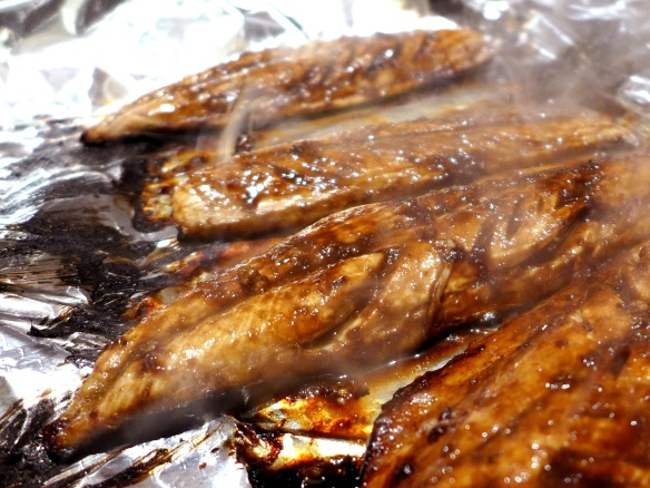 Image of tamarind-glazed mackerel, cooked