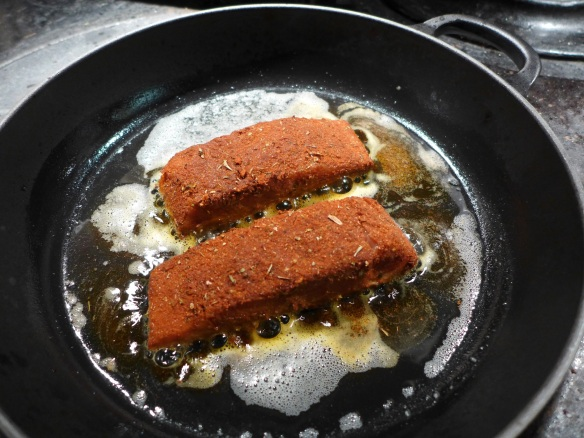 Image of salmon in the pan