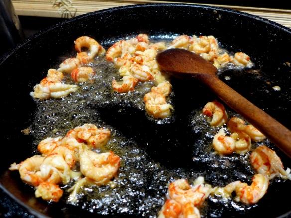 Image of crayfish cooking