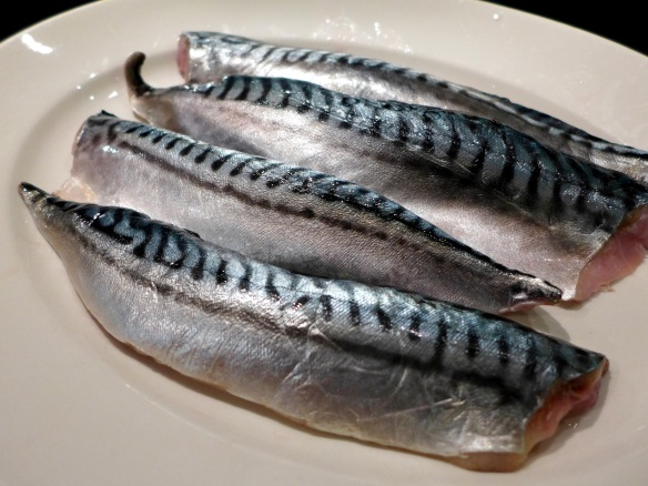 Image of raw mackerel fillets