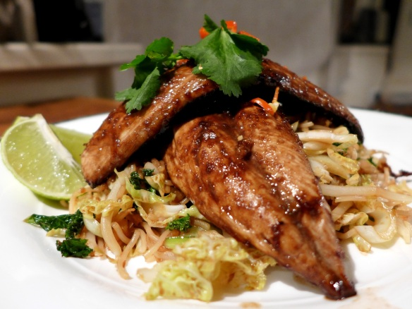 Image of tamarind-glazed mackerel, served