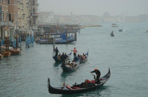 Image of Venetian gondoliers