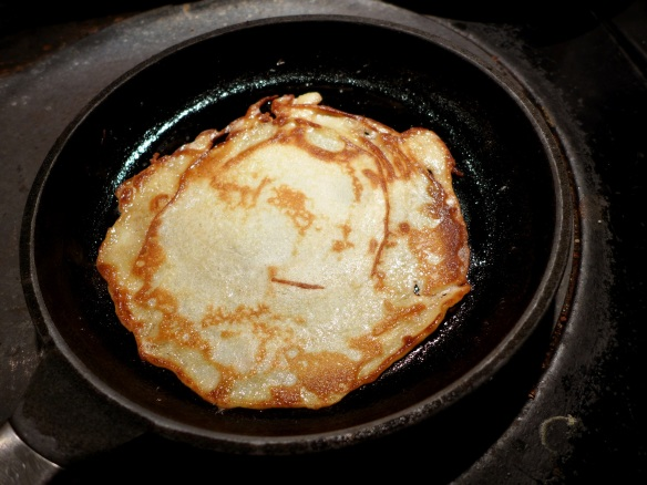 Image of pancake cooking