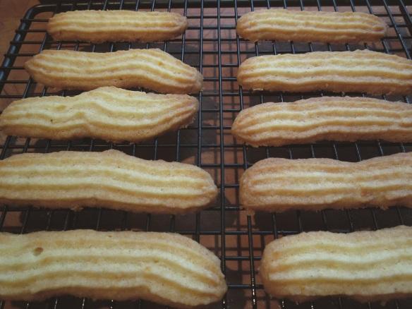Image of lemon finger biscuits