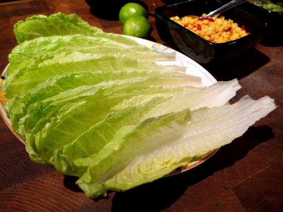 Image of lettuce leaves