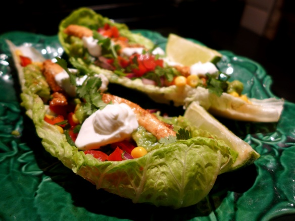 Image of lettuce leaf tacos