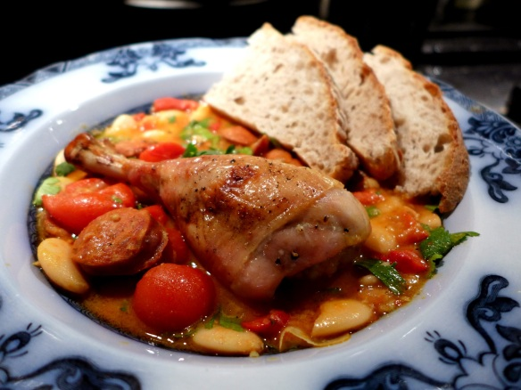 Image of chicken with butterbeans and chorizo