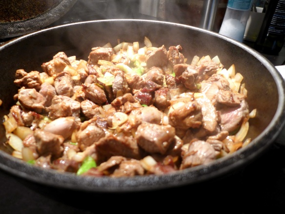 Image of filling being cooked