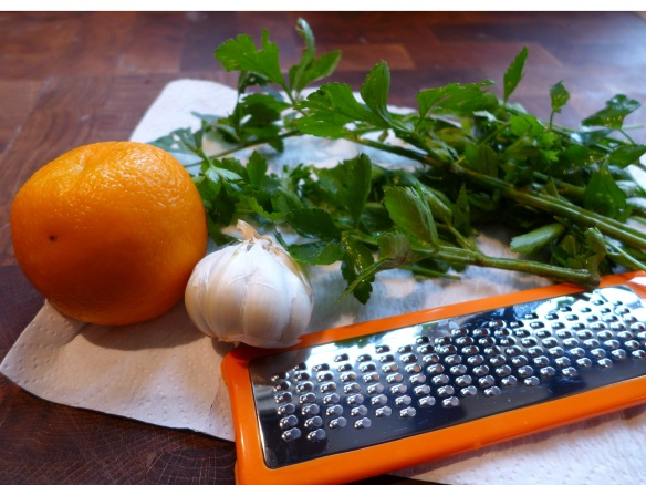 Image of gremolata ingredients