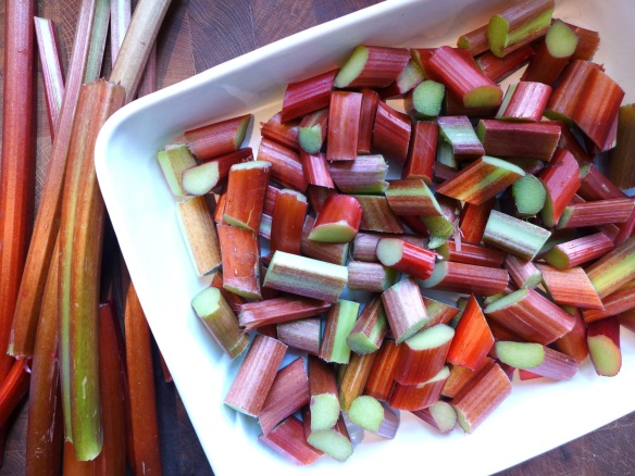 Image of chopped rhubarb