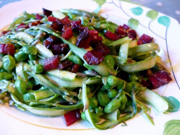 Image of shaved asparagus salad