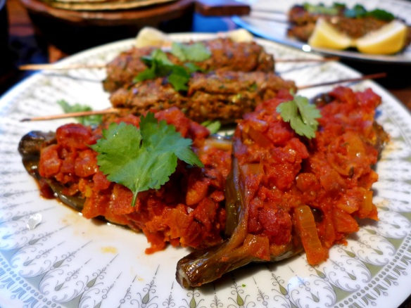 Image of aubergines, served