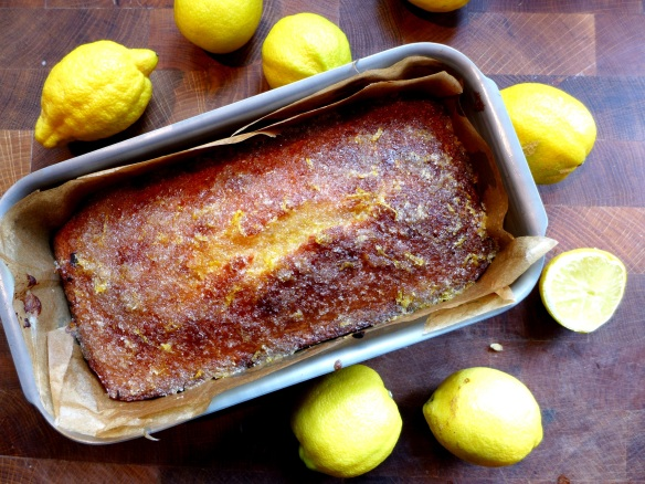 Image of cooked cake with lemons