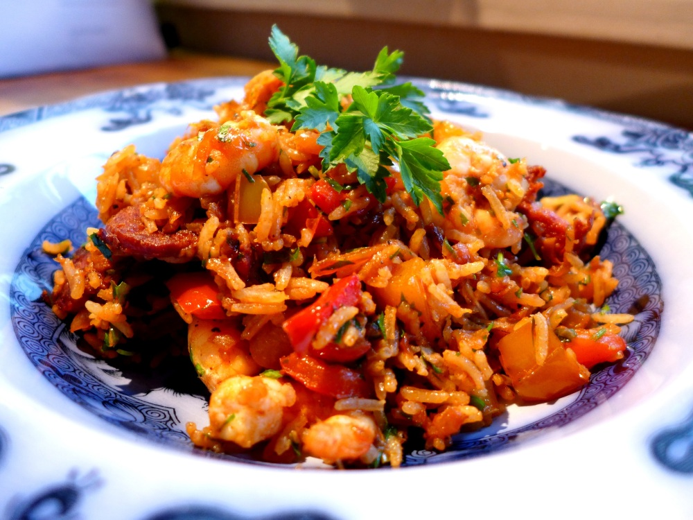 Image of Spanish-style rice, served