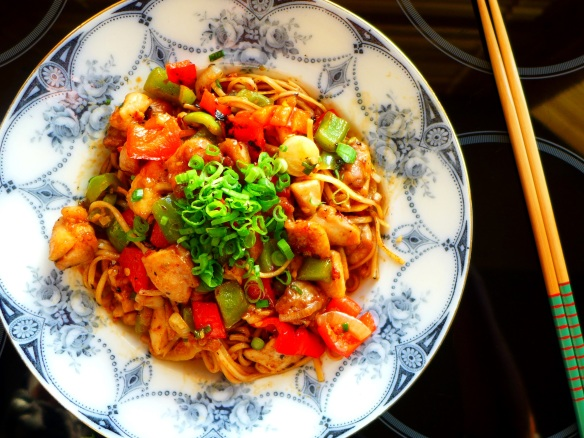 Image of lemon chilli chicken noodles