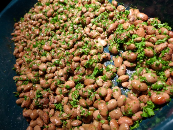 Image of borlotti beans ready to eat