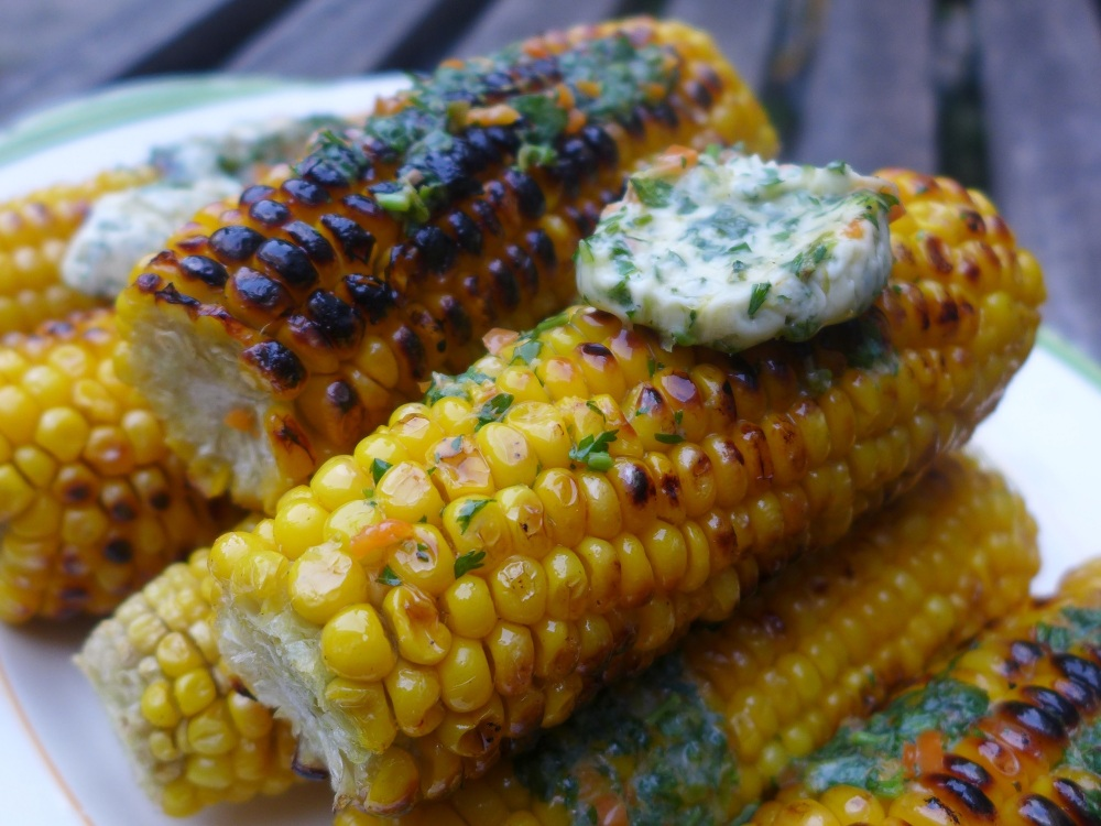 Image of Barbecued Sweetcorn with Chilli and Lime Butter