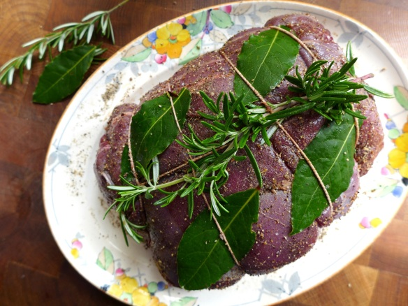 Image of venison with spice rub and herbs