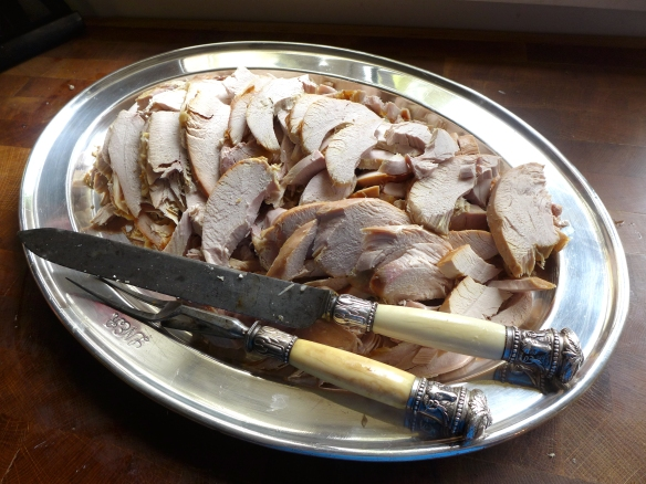 Image of a platter of sliced turkey
