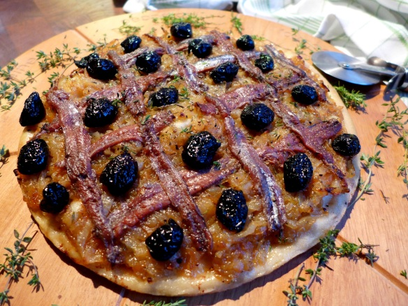 Image of pissaladière, cooked
