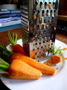 Image of carrots and grater