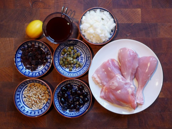 Image of ingredients for chicken agrodolce