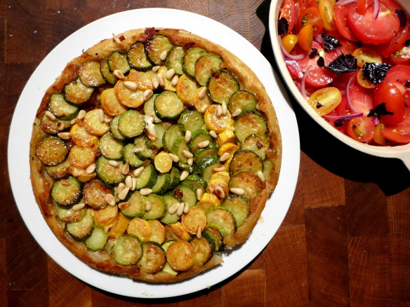 Image of courgette tarte tatin
