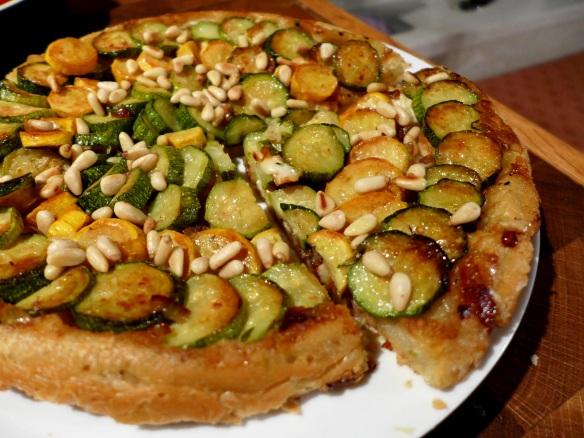 Image of tart, sliced