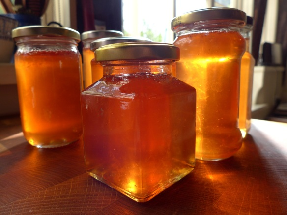 Image of crab apple and sloe gin jelly