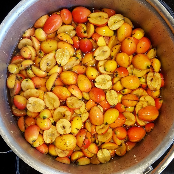 Image of crab apples in pan