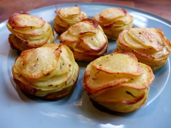 Image of potato stacks