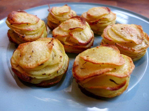 Image of potato stacks