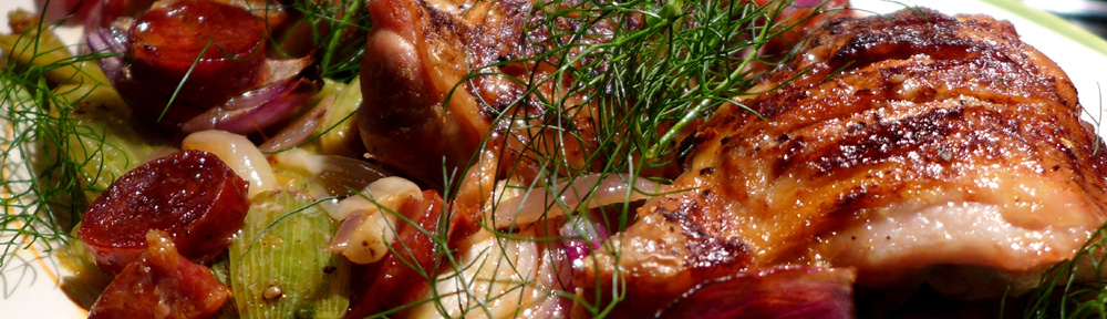 Image of chicken with fennel and chorizo