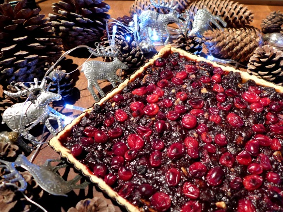 Image of cranberry and mincemeat tart