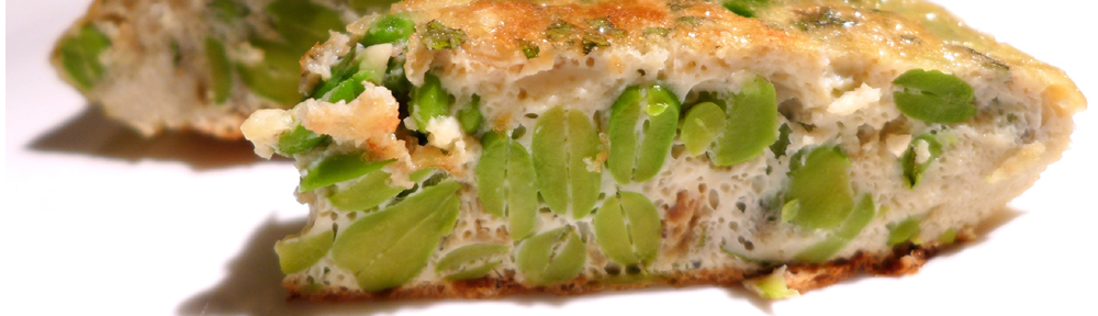 Image of broad bean and mint frittata