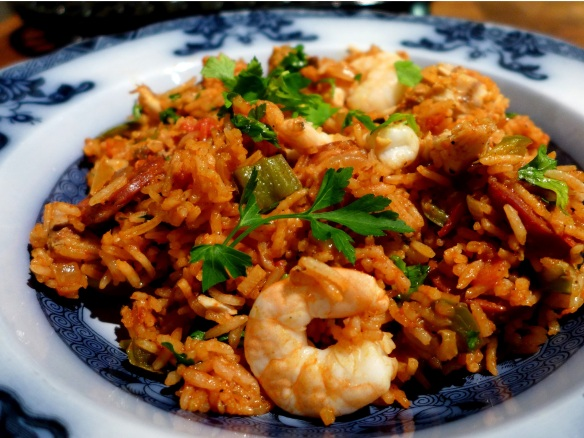 Image of Cajun-style Chicken Rice, served