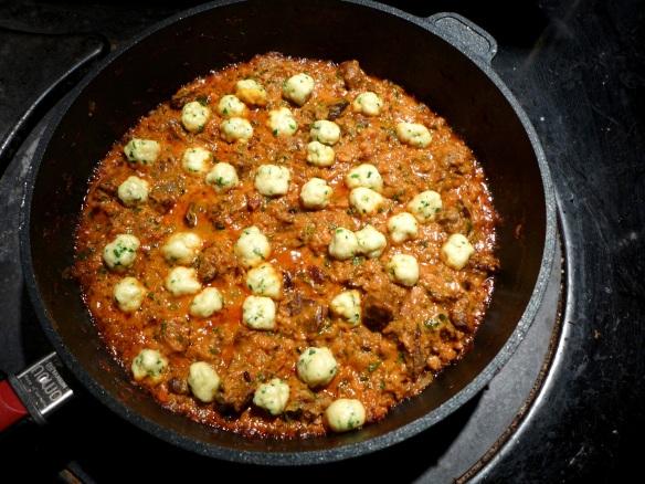 Image of dumplings in goulash