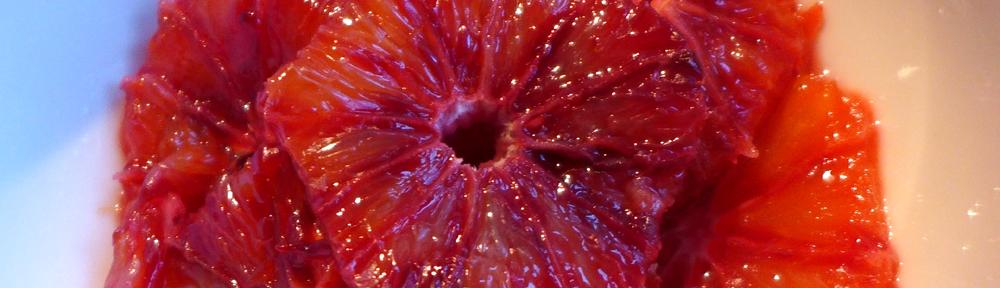 Image of caramelised blood orange