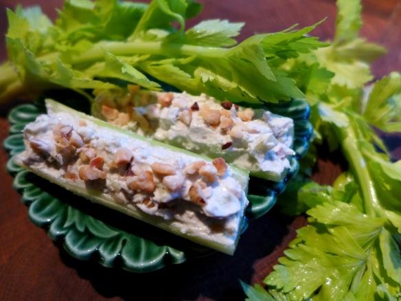 Image of celery sticks with pate