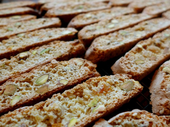 Image of pistachio and orange biscotti